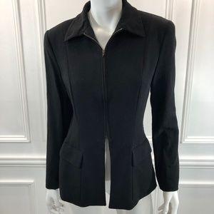 Michael Kors Collection 42 Blazer  Black Wool B6